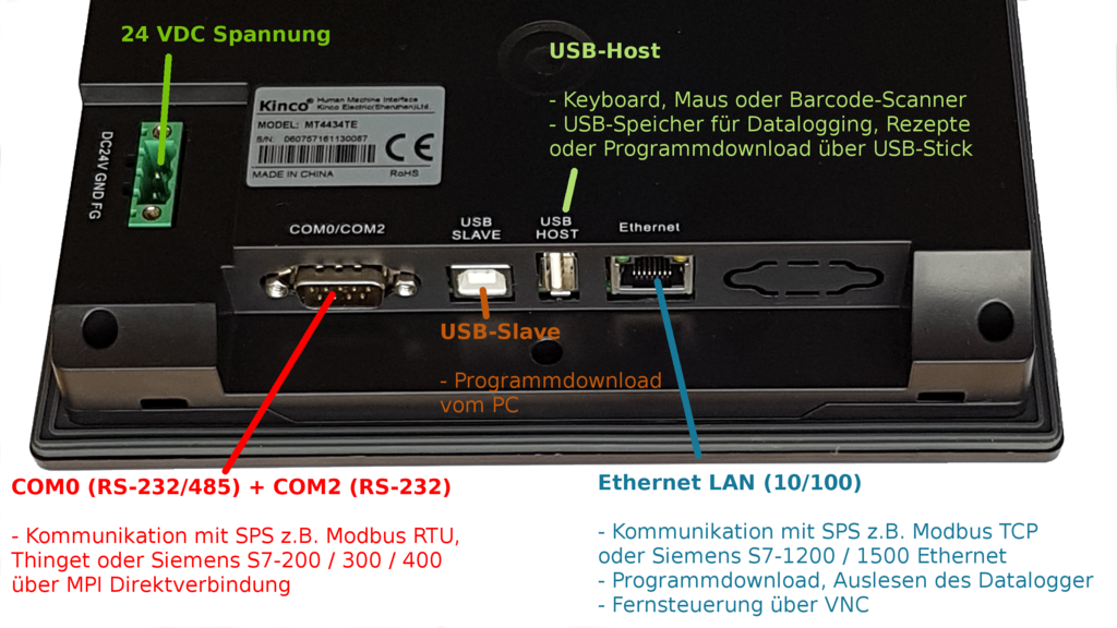"Kinco 7"" Widescreen HMI Touch Panel MT4434TE"
