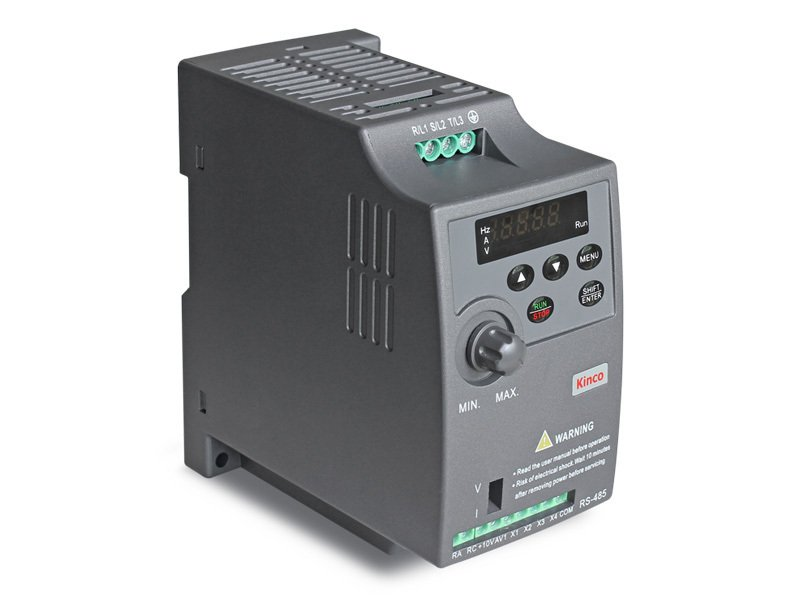 compact Kinco frequency inverter CV20-2S-0007G (0.75 kW) single phase 230 VAC