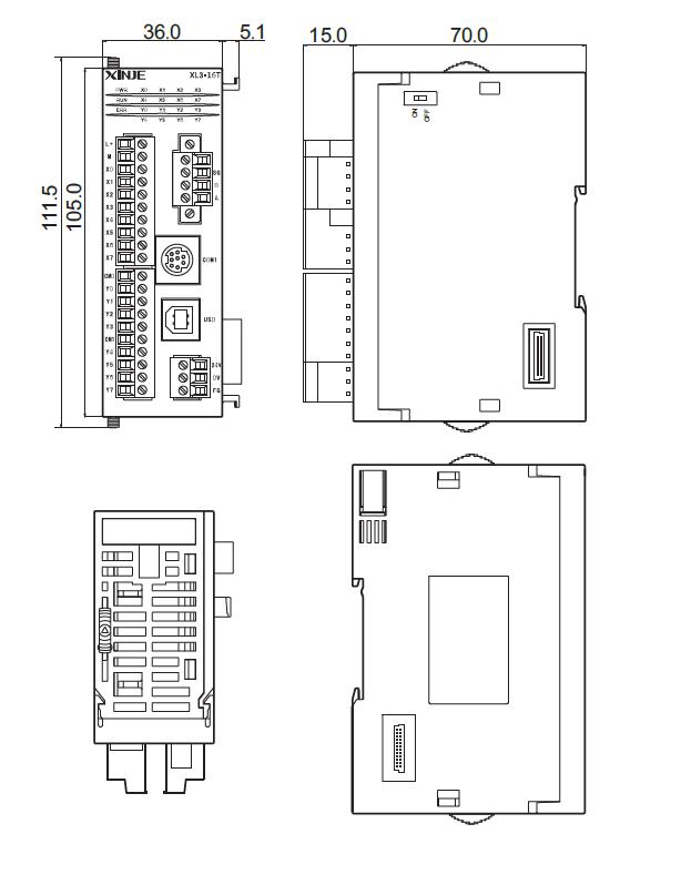 Xinje XL3 SPS mit 16 E/A (erweiterbar)