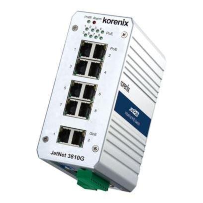 Korenix JetNet 3810G V2 8 PoE Port + 2 Ethernet Ports industrieller Unmanaged Switch für DIN-Schiene