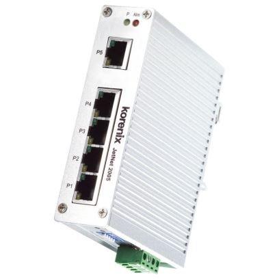 Korenix JetNet 2005 Ethernet 5 Port industrieller Unmanaged Switch für DIN-Schiene